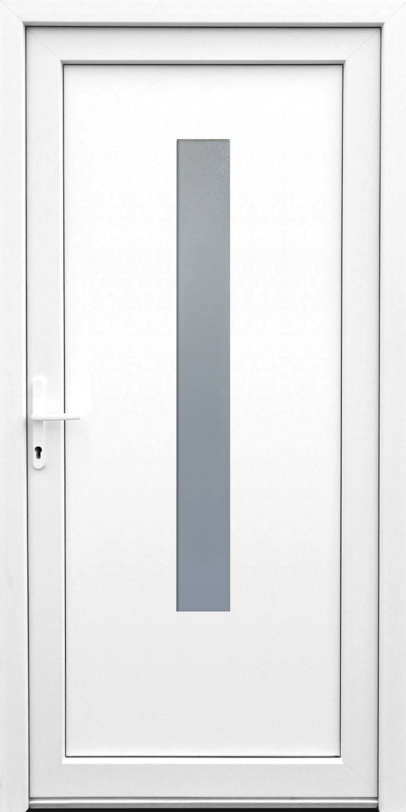 KunststoffNebeneingangstür K506  Standardmaß  DIN rechts