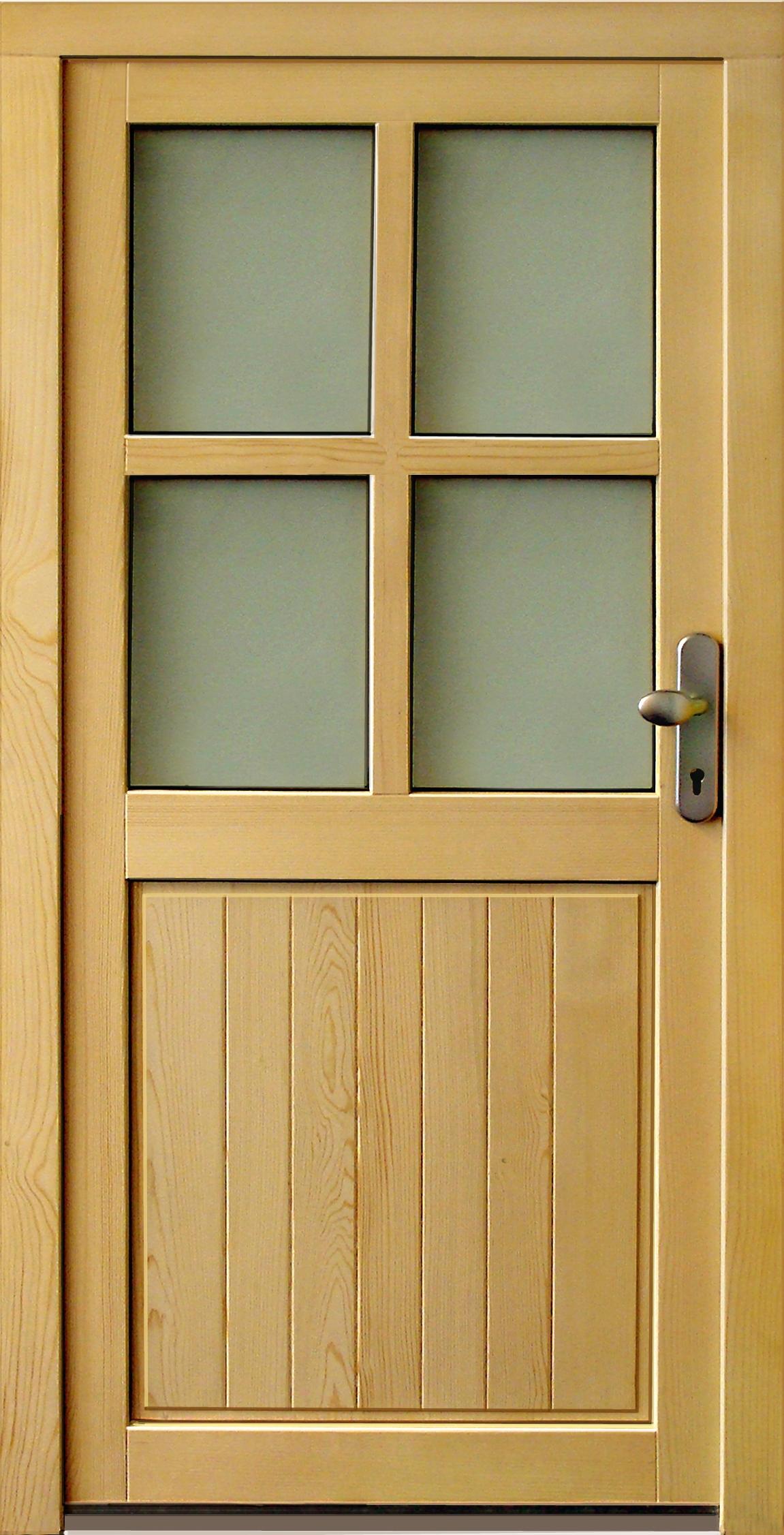 HolzNebeneingangstür NET502  Standardmaß  DIN rechts m 5Pkt