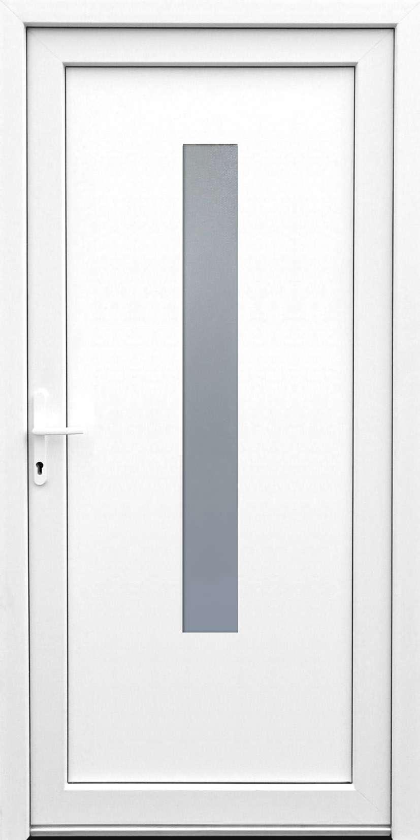 Standardmaß haustür  Kunststoff-Nebeneingangstür K506 - Standardmaß - DIN rechts ...